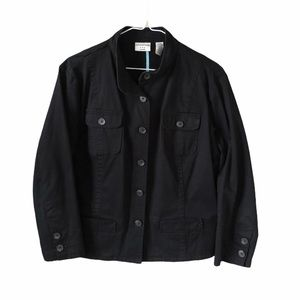 Black Cotton Stretch Jacket